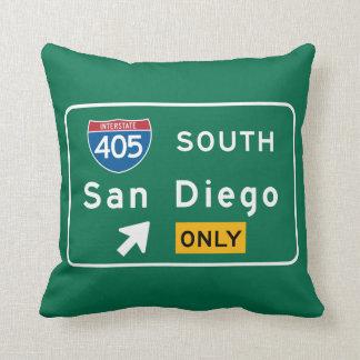 San Diego señal de tráfico de CA Almohada
