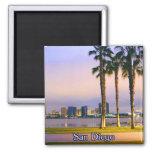 San Diego Shoreline 2 Inch Square Magnet