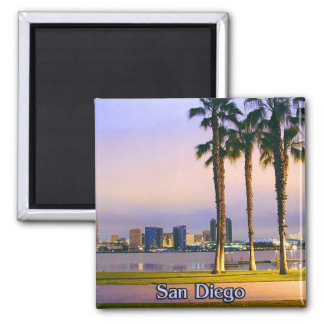 San Diego Shoreline 2 Inch Square Magnet