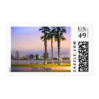 San Diego Shoreline Postage Stamp