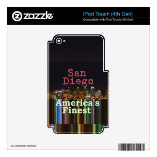 San Diego Skins For iPod Touch 4G