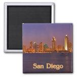 San Diego Skyline 2 Inch Square Magnet