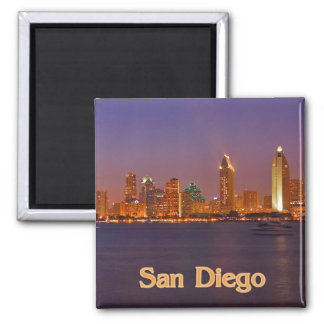 San Diego Skyline 2 Inch Square Magnet