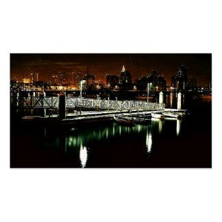 San Diego Skyline at Night Business Card Templates