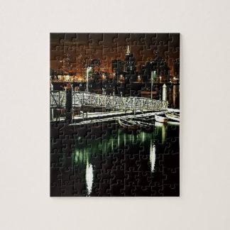 San Diego Skyline at Night Puzzle