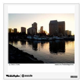 San Diego skyline at sunrise Wall Decal