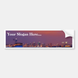 San Diego Skyline At Sunset From Harbor Island Car Bumper Sticker