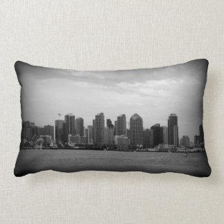 San Diego Skyline B/W Pillows