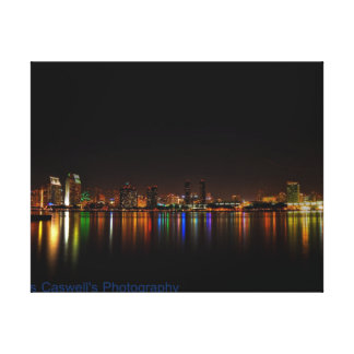 San Diego Skyline Stretched Canvas Prints