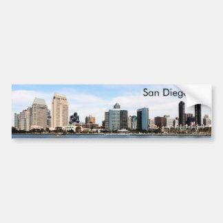 San Diego Skyline Car Bumper Sticker
