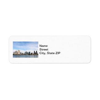 San Diego Skyline Custom Return Address Labels