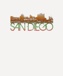 San Diego Skyline Design Shirts