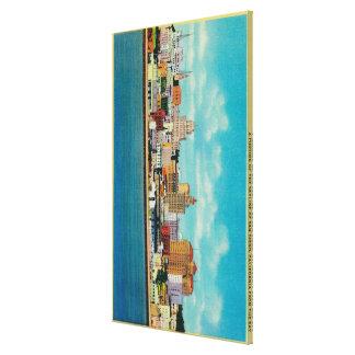 San Diego Skyline from the BaySan Diego, CA Canvas Print