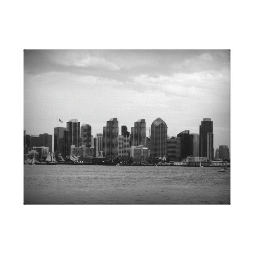 San Diego Skyline Gallery Wrap Canvas