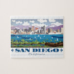 "San Diego Skyline Jigsaw Puzzle<br><div class=""desc"">San Diego is a city on the Pacific coast of California known for its beaches, parks and warm climate. Immense Balboa Park is the site of the world-famous San Diego Zoo, as well as numerous art galleries, artist studios, museums and gardens. A deep harbor is home to a large active...</div>"