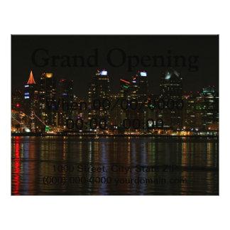 """San Diego Skyline Night 8.5"""" X 11"""" Flyer"""