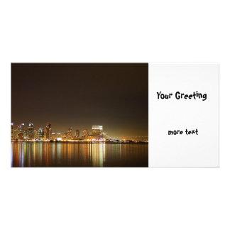 San Diego Skyline Night Card