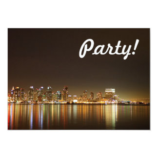 San Diego Skyline Night Card
