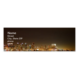 San Diego Skyline Night Double-Sided Mini Business Cards (Pack Of 20)