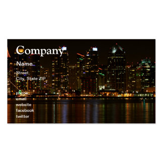 San Diego Skyline Night Double-Sided Standard Business Cards (Pack Of 100)