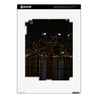 San Diego Skyline Night iPad 3 Decal