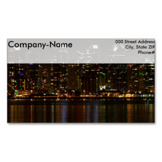 San Diego Skyline Night Magnetic Business Cards (Pack Of 25)