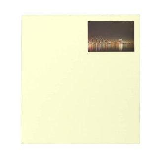 San Diego Skyline Night Note Pad