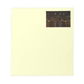 San Diego Skyline Night Notepad