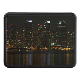 San Diego Skyline Night Trailer Hitch Covers