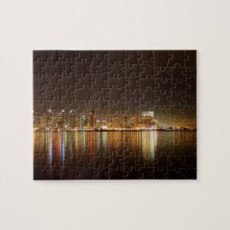 San Diego Skyline Night Jigsaw Puzzles