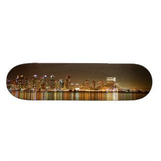 San Diego Skyline Night Skate Decks