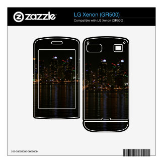San Diego Skyline Night Decal For The LG Xenon