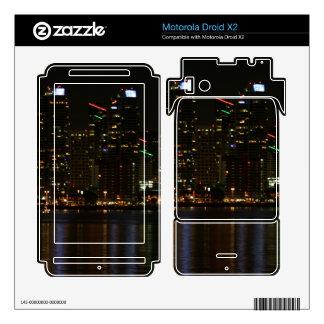 San Diego Skyline Night Motorola Droid X2 Skins