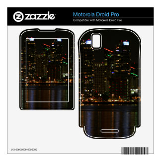 San Diego Skyline Night Motorola Droid Pro Decal