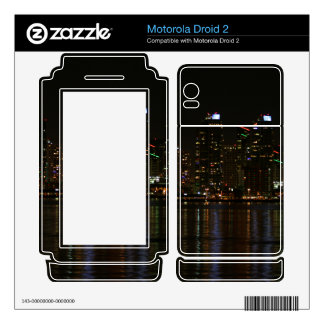 San Diego Skyline Night Motorola Droid 2 Decal
