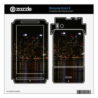 San Diego Skyline Night Motorola Droid X Skin
