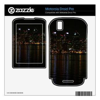 San Diego Skyline Night Motorola Droid Pro Decals