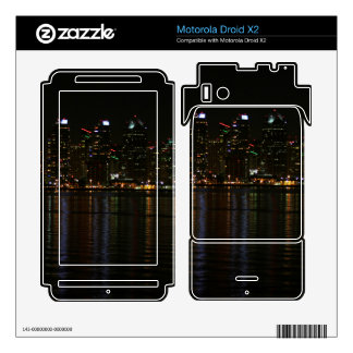 San Diego Skyline Night Motorola Droid X2 Decals