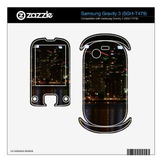 San Diego Skyline Night Samsung Gravity 3 Decals