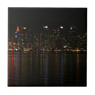San Diego Skyline Night Tiles