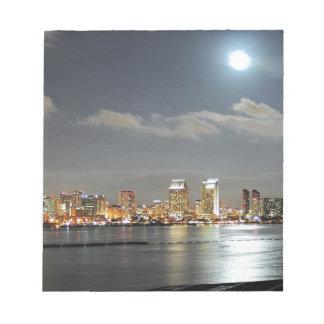 San Diego skyline Notepad