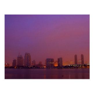 San Diego Skyline On A Foggy Morning Postcards