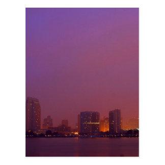 San Diego Skyline On A Foggy Morning Postcard