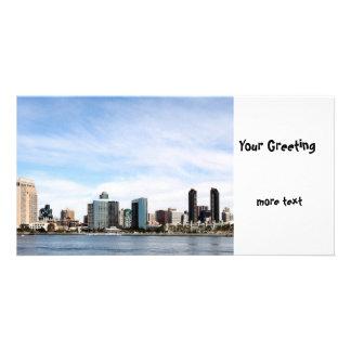 San Diego Skyline Custom Photo Card