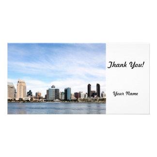San Diego Skyline Personalized Photo Card