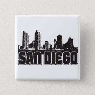 San Diego Skyline Pinback Button