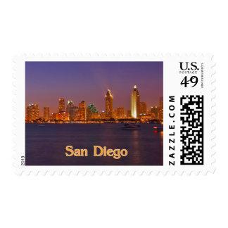 San Diego Skyline Postage Stamp