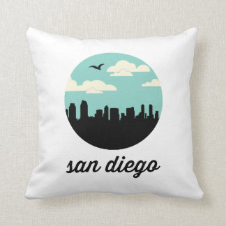 San Diego Skyline | San Diego California Throw Pillows