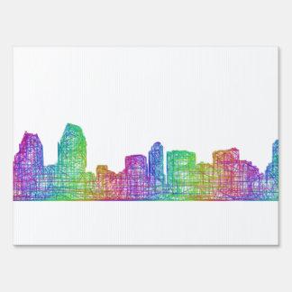 San Diego skyline Sign