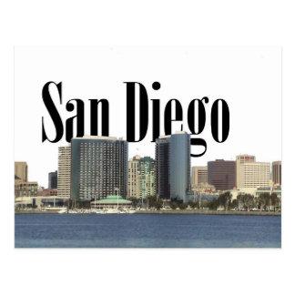San Diego Skyline with San Diego in the Sky Postcard